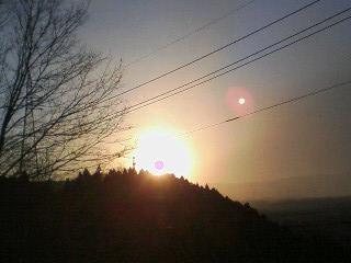 2010年1月1日、横川SAから見た初日の出